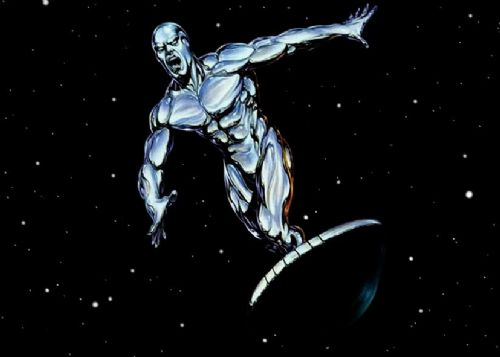 SILVER SURFER - SPACE VOYAGE canvas print - self adhesive poster - photo print
